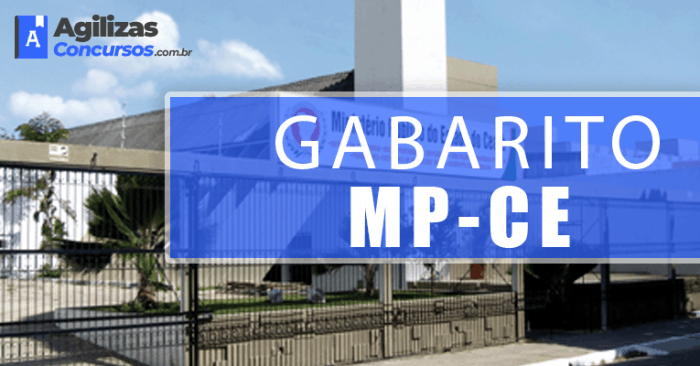 Gabarito do Concurso MP CE